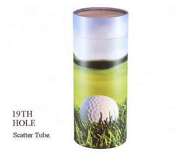 19th Hole Golf Scatter Tube