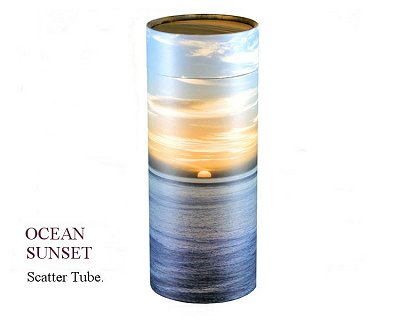 Ocean Sunset Scatter Tube