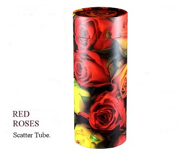 Red Roses Scatter Tube