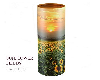 Sunflower Fields Scatter Tube